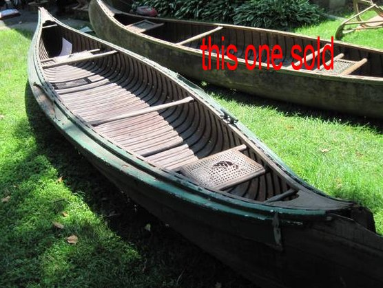 Two wood canoes (Old Town?) in Allendale, NJ in need of rescue $125