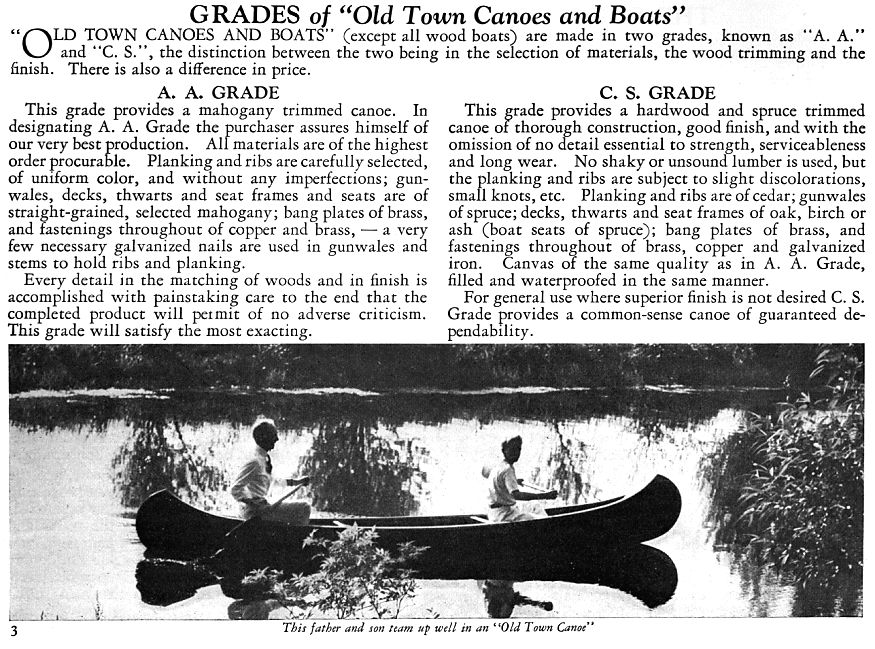 Old town Canoe grades   WCHA Forums